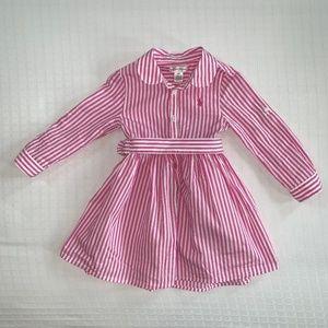 Ralph Lauren Pink Striped Shirtdress 18 months